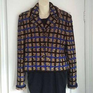 ST. JOHN - Van Goh tweed knit blazer